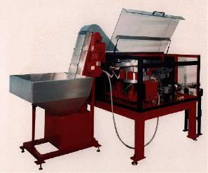 "36"" Feeder Bowl with gravity track, 48"" conveyor, control, sound enclosure"